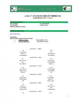 Calendario de Competición 1ª División Nacional Femenina 17-18