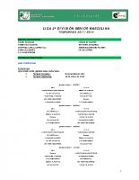 Calendario de Competición 2ª División Nacional Masculina 17-18
