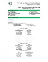 NOREBA 17-18 2º División Sénior masculina