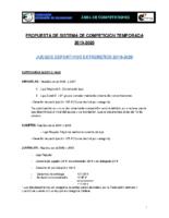 SISTEMA DE COMPETICIÓN 2019-2020